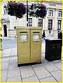 Alex Gregory's gold postboxes in Cheltenham, Gloucestershire (1).jpg