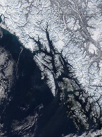 Alexander Archipelago - A MODIS photograph of the Alexander Archipelago