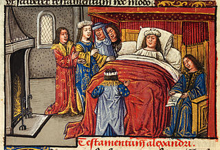 Alexander on his deathbed