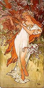 Alfons Mucha - 1896 - Spring