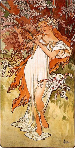 Antheia - Spring (Alfons Mucha, 1896)