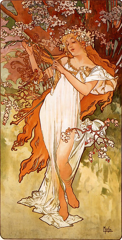 Alfons Mucha - 1896 - Spring