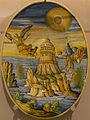 Alfonso Patanazzi - Plat ovale à ombilic - La chute d'Icare (Urbino, Majolique, 1616).jpg