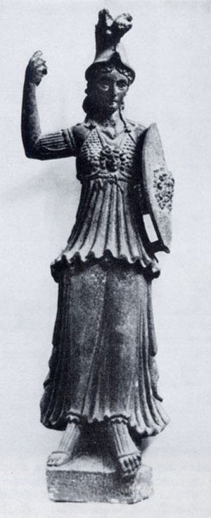 Al-Lat - Allāt-Minerva. Statue of the 2nd century AD from As-Suwayda, Syria. National Museum of Damascus