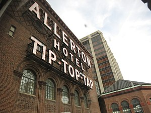 Warwick Allerton - Chicago - 'Tip Top Tap' sign