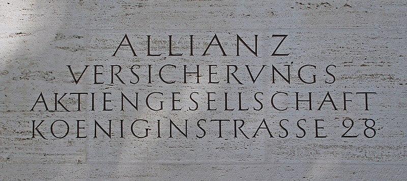 File:Allianz Koeniginstr Inschrift.jpg