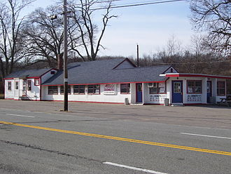 North Kingstown, Rhode Island - Allie's Donuts, a well known local restaurant on Rhode Island Route 2