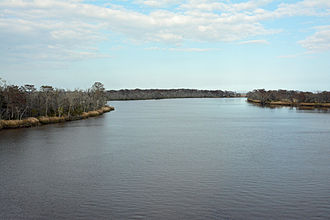 Altamaha River - The Altamaha River viewed from the bridge between Glynn County and McIntosh County, Georgia, USA