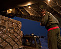 Altus airmen aboard a C-17 Globemaster III from the 97th Air Mobility Wing delivered the largest single-day humanitarian aid delivery since 1998 to Port-au-Prince, Haiti, Dec. 28, 2012. 121228-F-QX786-037.jpg
