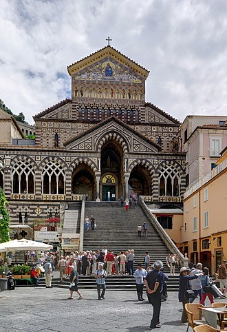 Amalfi - Duomo di Amalfi and the piazza.