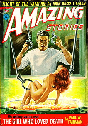 "Paul W. Fairman - Fairman's novella ""The Girl Who Loved Death"" was the cover story in the September 1952 issue of Amazing Stories"
