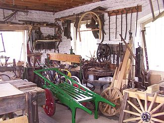 Wheelwright - Wheelwrights Workshop at the Amberley Working Museum, West Sussex, England