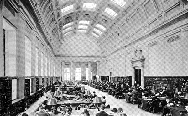 Americana 1920 Libraries - Widener Library reading room.jpg