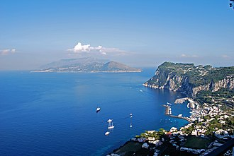 Anacapri - View from Villa San Michele towards Marina Grande