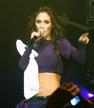 Anahí - Anahí at her Mi Delirio World Tour at Sao Paulo, Brazil in 2010.