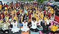 Anant Geete and the Minister of State (Independent Charge) for Power, Coal and New and Renewable Energy, Shri Piyush Goyal participates in the mass yoga demonstration, on the occasion of International Yoga Day, in Mumbai.jpg