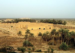 Iraqi nationalism - Reconstructed full-scale replica of the ancient city of Babylon in Iraq.