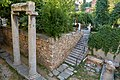 Ancient ruins in the courtyard of the Church of Saint Catherine in Plaka on July 21, 2019.jpg