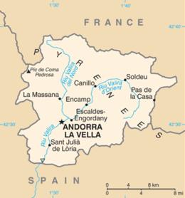 Andorra - Mappa
