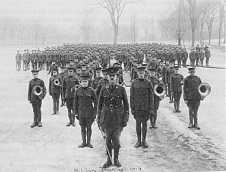Phillips Academy - Andover Battalion cadets training at the school, 1918