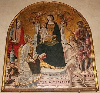 Andrea di Niccolò - Image: Andrea di niccolò, madonna col bambino e santi 02