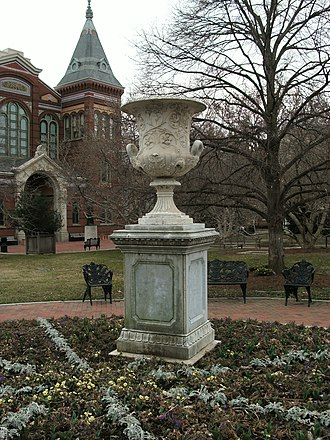 Oakwood Cemetery (Troy, New York) - Image: Andrew Jackson Downing urn