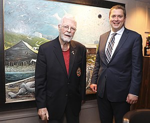 John Crosbie - Crosbie with federal Conservative Leader Andrew Scheer at an event in St. John's in 2017.