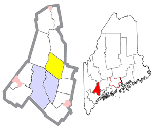 Greene, Maine - Image: Androscoggin County Maine Incorporated Areas Greene Highlighted