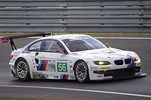 Description de l'image Andy Prialux Dirk Muller Joey Hand BMW Motorsport LMGTE Pro BMW M3 Le Mans 2011.jpg.