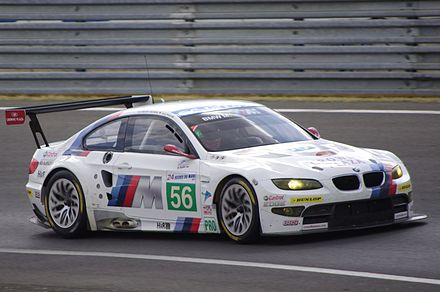 Hand's 2011 24 Hours of Le Mans car Andy Prialux Dirk Muller Joey Hand BMW Motorsport LMGTE Pro BMW M3 Le Mans 2011.jpg