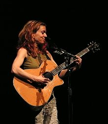 Ani DiFranco performing at the Ancienne Belgique in 2007