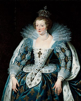 Anne of Austria - Anne of Austria, coronation costume, by Peter Paul Rubens