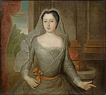Anne Charlotte of Lorraine as a Vestal Virgin by an unknown artist.jpg