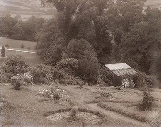 Eagle House (suffragette's rest) - Annie's arboretum at Eagle House c.1910
