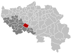 Anthisnes - Image: Anthisnes Liège Belgium Map
