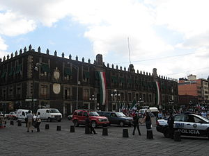Old Customs Buildings, Mexico City - Facade of the building