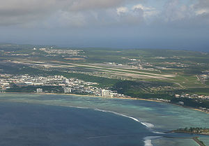Antonio B. Won Pat International Airport - Aerial photograph of the airport
