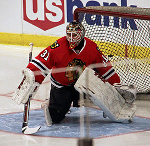 Antti Niemi (ice hockey) - Niemi with the Blackhawks in 2010