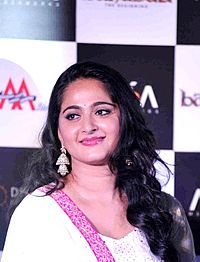 Anushka at the trailer launch of Baahubali.jpg