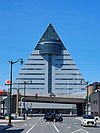 Aomori Tourist Information Center seen from the ASPAM Street 20200621-cropped.jpg