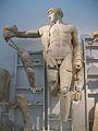 Apol·lo, escultura central del frontó occidental del temple de Zeus, Museu Arqueològic d'Olímpia.JPG