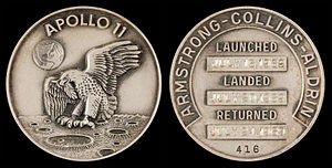 Apollo 11 - Apollo 11 space-flown silver Robbins medallion