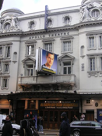 Apollo Theatre - The theatre showing David Mamet's A Life in the Theatre in 2005