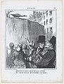 Apparition du fameux serpent de la rue Lacépède..., from Actualités, published in Le Charivari, March 18, 1858 MET DP876686.jpg