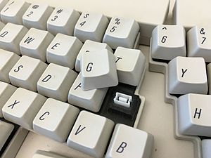 Apple Adjustable Keyboard - Apple Adjustable Keyboard With Key Switch Exposed