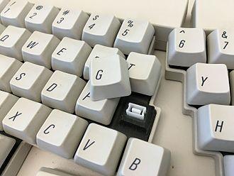 Apple Adjustable Keyboard - Apple Adjustable Keyboard With Key Switch Exposed