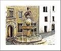Aquarelle de la fontaine del Potro à Cordoue - Espagne (5257086823).jpg