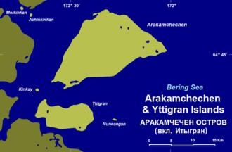 Arakamchechen Island - Arakamchechen and Yttygran Islands