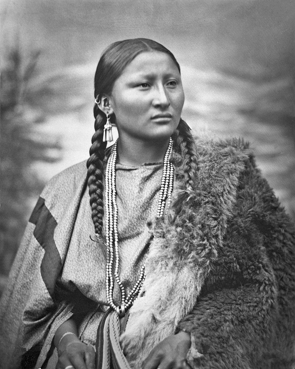 Arapaho woman Pretty Nose, 1879, restored