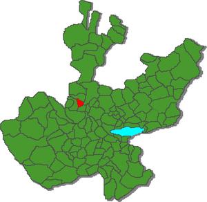 El Arenal, Jalisco - Image: Arenalmapa